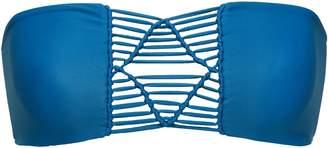 Mikoh Tonga Macrame-paneled Bandeau Bikini Top