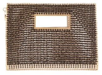 Rosantica Iside Crystal-embellished Envelope Clutch - Black Multi