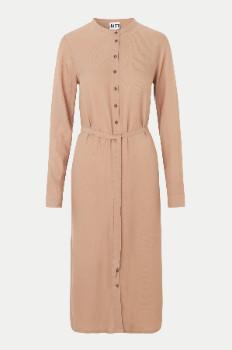 Just Female Light Old Pink Tienna Shirt Dress - L .