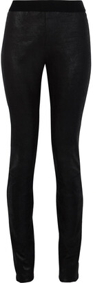 Ann Demeulemeester Coated Stretch-suede Leggings