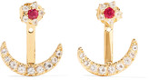 Elizabeth and James Apollo gold-tone crystal earrings