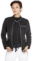 G by Guess GByGUESS Women's Faustina Twill Moto Jacket