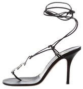 Jimmy Choo Jewel-Embellished Leather Sandals