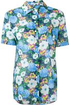 Carven floral print shortsleeved shirt - women - Cotton - 40