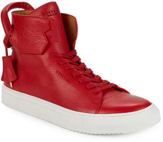 Buscemi Unisex Pebbled Leather High-Top Sneakers
