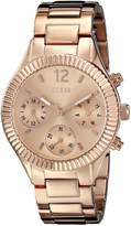 GUESS GUESS? Women's U0323L3 Mid-Size Rose Gold-Tone Multi-Function Watch