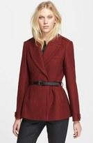 Burberry 'Drumleigh' Wool Blend Short Wrap Coat