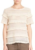 Joie Rafel Cotton Fringe Top