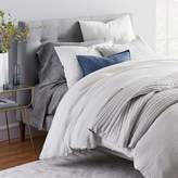 west elm Belgian Flax Linen Graduated Stripe Bedding Set