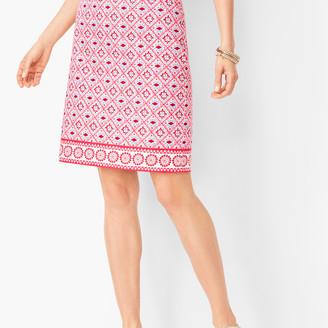 Talbots Canvas Cotton A-Line Skirt