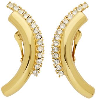 Panconesi Gold Arch Clip-On Earrings