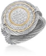 Alor Round Diamond Pavé Ring, Size 6.5