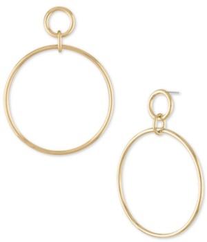 Rachel Roy Gold-Tone Large Drop Hoop Earrings