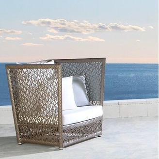 Panama Jack Maldives Patio Chair with Sunbrella Cushions Outdoor Cushion Color: Spectrum Graphite