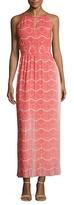 Karen Millen Pleated Printed Maxi Dress