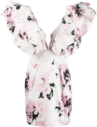 Alexandre Vauthier Floral Print Mini Dress