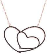 Lord & Taylor Cubic Zirconia Open Heart Pendant Necklace