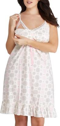 Belabumbum Women's Maternity Starlit Nursing Chemise X-Large