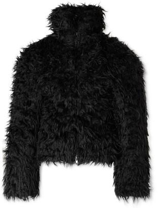Balenciaga Cropped Padded Faux Fur Jacket