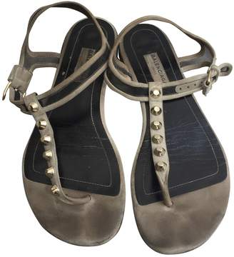 Balenciaga \N Grey Suede Sandals