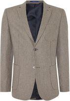 Peter Werth Men's Keith dogtooth patch pocket blazer