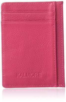 Kalmore KALMORE Unisex-Adult's Petite Credit Card Holder Leather Slim Minimalist Wallet