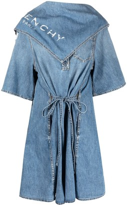 Givenchy Distressed Scarf Detail Shirtdress