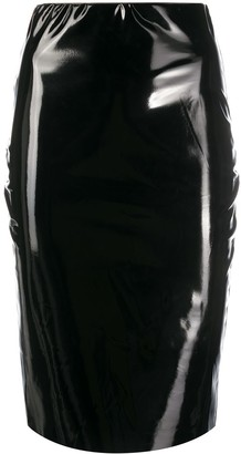 Alchemy Coated Fitted Midi Skirt
