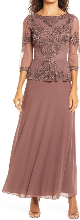 Pisarro Nights Bead Embellished Gown