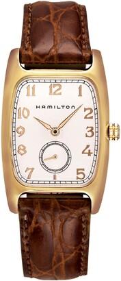 Hamilton American Classic Boulton Leather Strap Watch, 27mm x 31mm