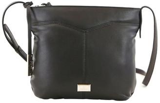 Cellini CLQ207 Fairview Zip Top Black Crossbody Bag