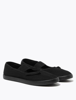 Marks and Spencer Kids' Slip-On Mary Jane Plimsolls (7 Small - 4 Large)