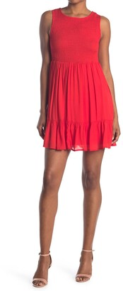 MelloDay Smocked Sleeveless Dress