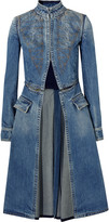 Alexander McQueen Embroidered denim coat