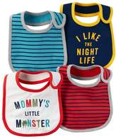 Carter's Baby Boy 4-pk. Striped & Graphic Bibs