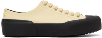 Jil Sander Off-White Leather Sneakers