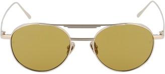 Linda Farrow Lou Oval Frame Sunglasses