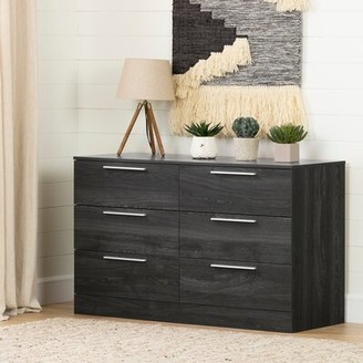 South Shore Step One Essential 6 Drawer Double Dresser Color: Gray Oak