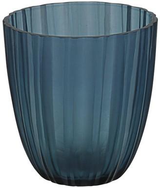"Aspen Creative Corporation Aspen Creative Blue Glass Votive Candle Holder 3-3/4"" Diameter x 4-1/4"" Height, 1 Pack"
