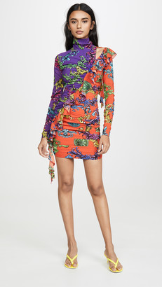 Versace Cross Ruffle Dress