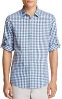 Michael Kors Shane Plaid Slim Fit Button-Down Shirt