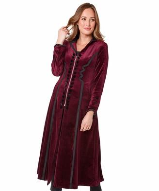 Joe Browns Womens Double Breasted Velvet Zip Up Coat Red 12