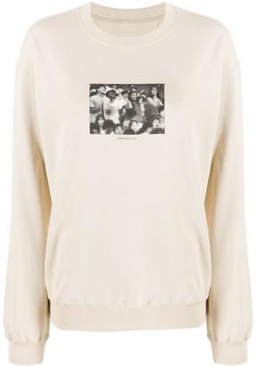 Julien David Photographic-Print Cotton Sweatshirt