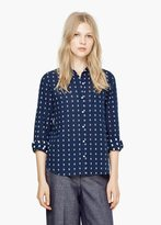 Mango Outlet Chest-Pocket Cotton Shirt
