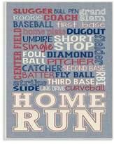 Stupell Industries Baseball Denim Feel Wall Plaque Art
