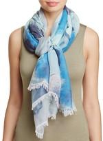 Aqua Watercolor Floral Scarf - 100% Exclusive