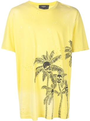 Dom Rebel Skull Palm T-shirt