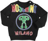 Moschino Logo Print Cotton Fleece Sweatshirt