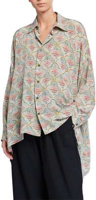 eskandar Printed Silk Shirt