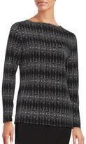 Ivanka Trump Printed Knit Top